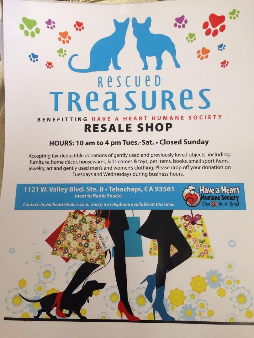 Rescued Treasures Flyer
